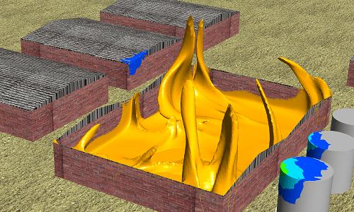 simulation 3d incendie